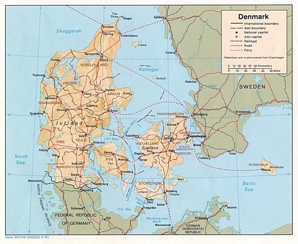 Denmark Maps   Printable Maps Of Denmark For Download - Printable Map Of Denmark