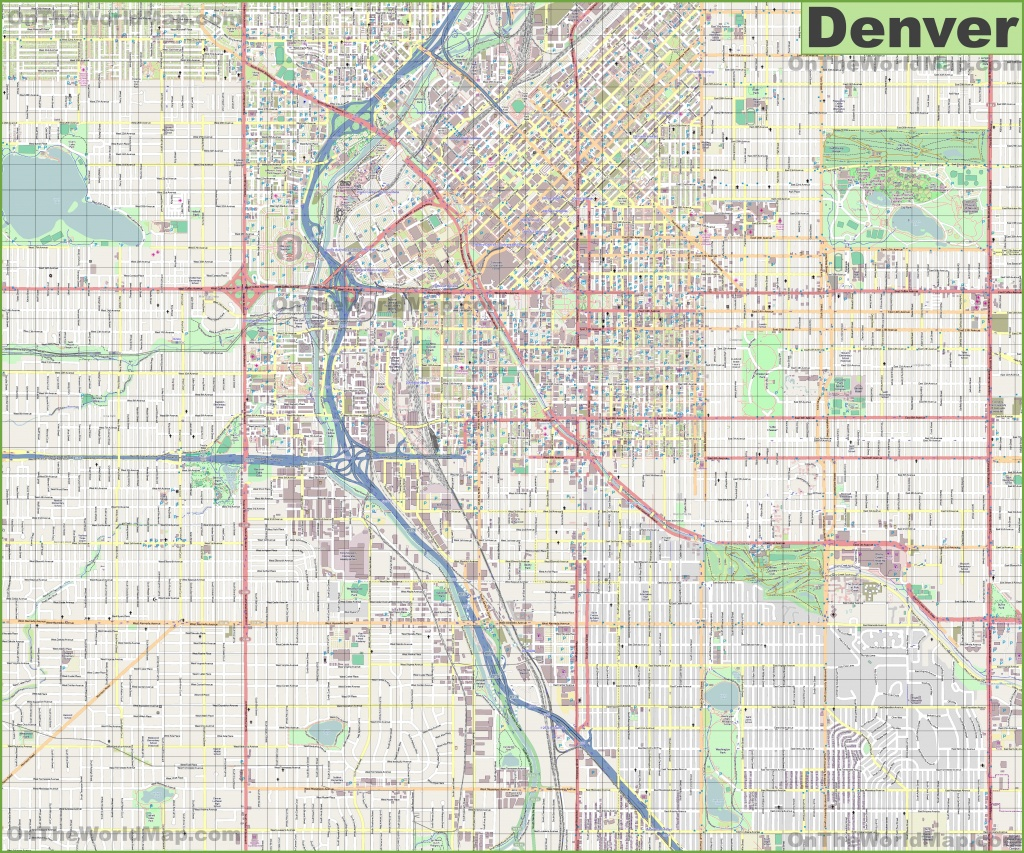 Denver Maps | Colorado, U.s. | Maps Of Denver - Denver City Map Printable
