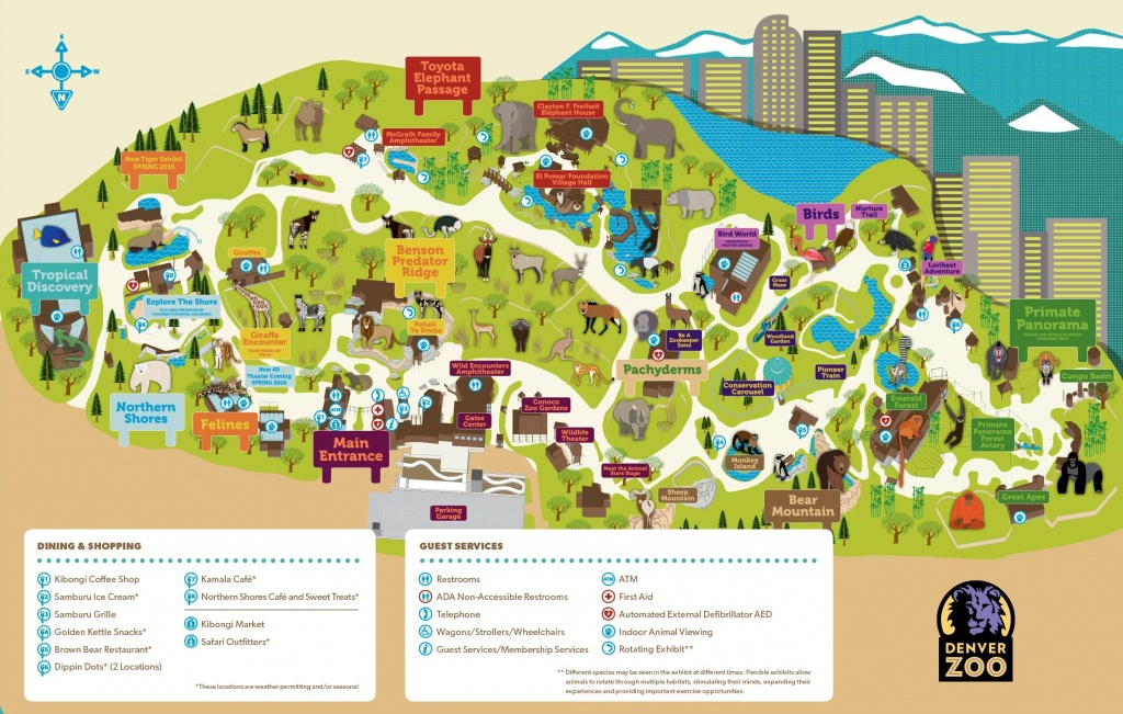 Denver Zoo Map - Denver City Map Printable