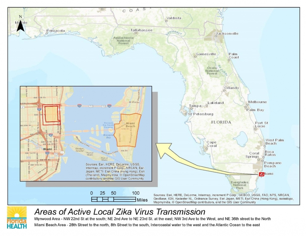 Department Of Health Daily Zika Update | Florida Department Of Health - Zika Florida Map