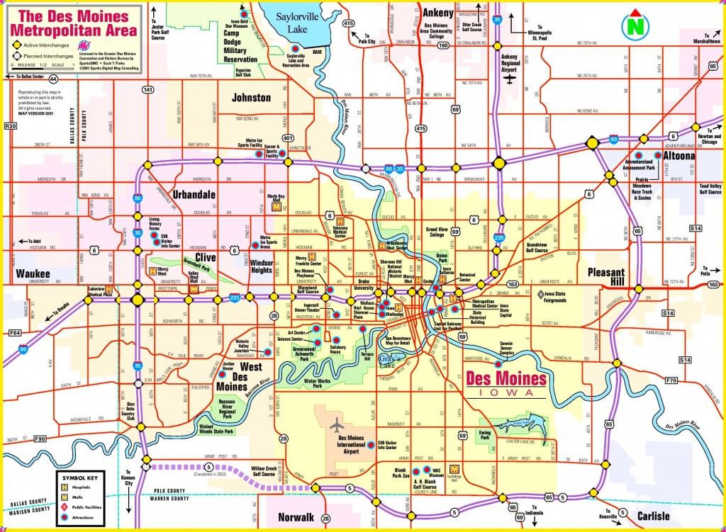 Des Moines Area Map - Printable Map Of Des Moines Iowa