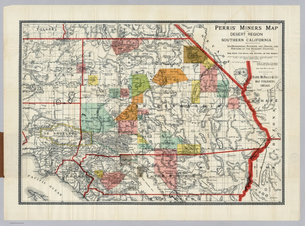 Desert Region Of Southern California - David Rumsey Historical Map - Printable Map Of Riverside County