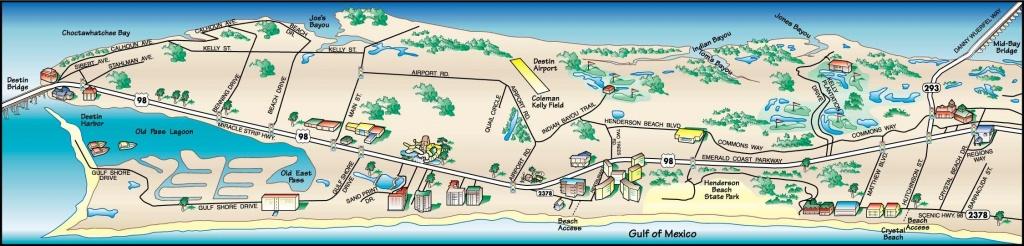 Destin Florida Map   Destin, Florida Map 1   Vacations   Destin - Map Of Destin Florida Attractions