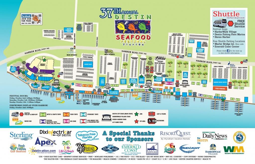 Destin Florida Map | Travel | Destin Florida Vacation, Destin - Destin Florida Map Of Beaches