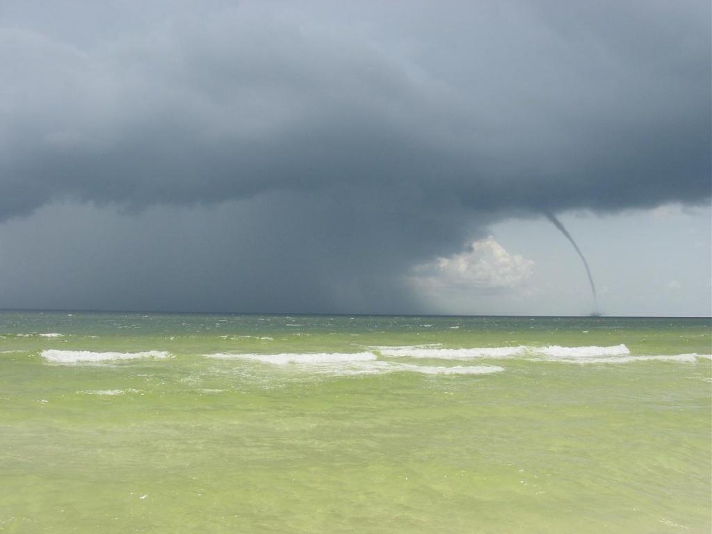 Destin, Florida Waterspout - July 18, 2003 - Destin Florida Weather Map