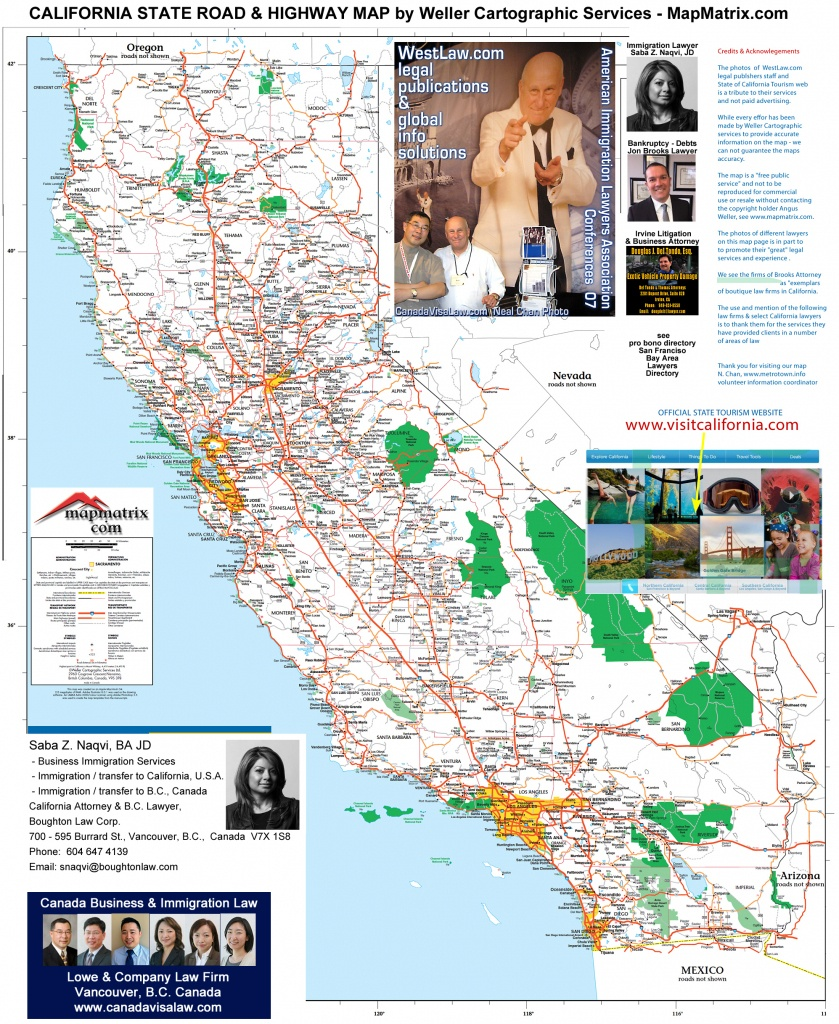 Detailed California Road / Highway Map - [2000 Pix Wide - 3 Meg - Road Map Of Southern Oregon And Northern California