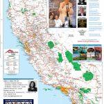 Detailed California Road / Highway Map   [2000 Pix Wide   3 Meg   Road Map Oregon California