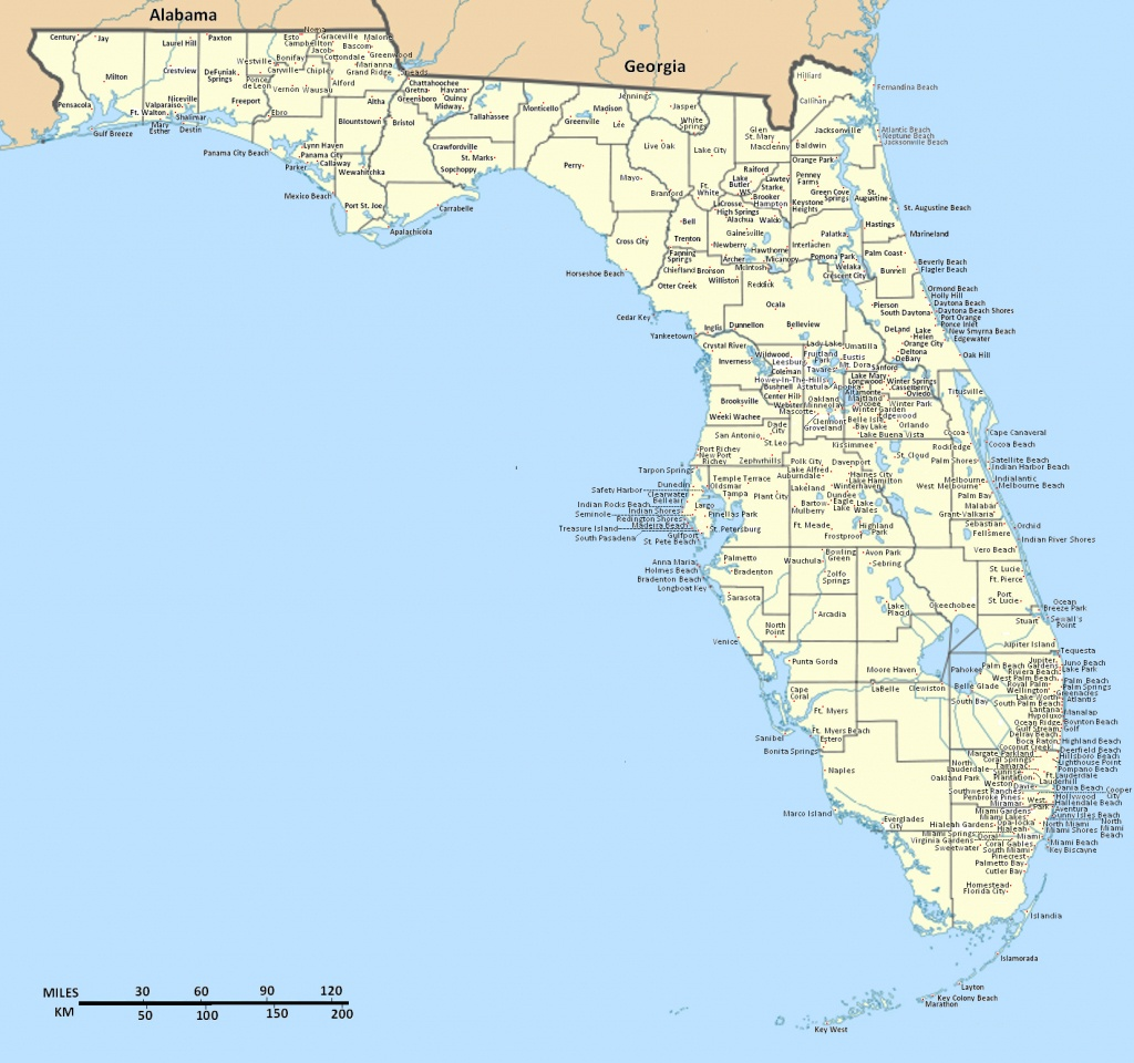 Detailed Florida State Map With Cities. Florida State Detailed Map - Where Is Apalachicola Florida On The Map