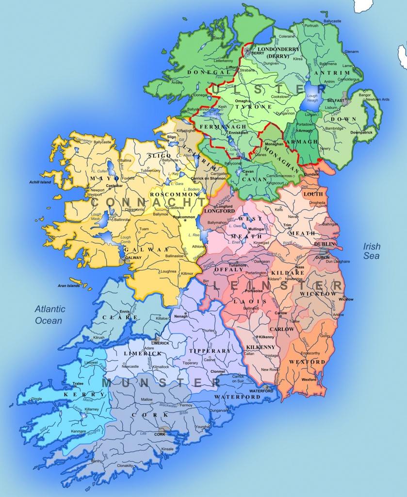 Detailed Large Map Of Ireland   Administrative Map Of Ireland - Large Printable Map Of Ireland
