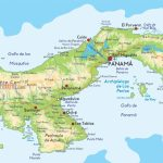 Detailed Map Of Panama |  Detailed Physical Map Of Panama. Panama – Printable Map Of Panama