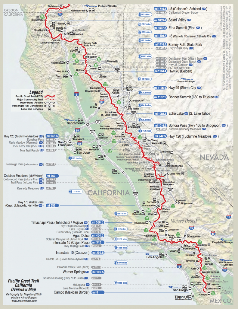 Detailed Pct Maps – Derek & Caitlin's 2015 Pacific Crest Trail Hike - Pct Map California