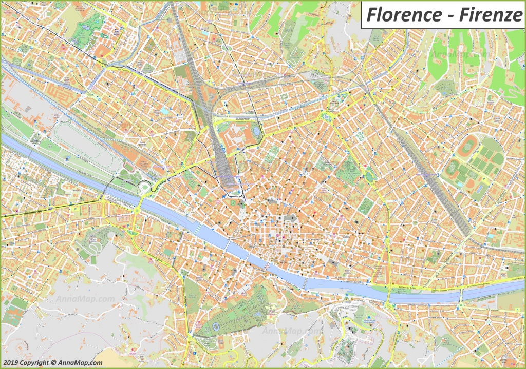 Detailed Tourist Maps Of Florence | Italy | Free Printable Maps Of - Printable Map Of Florence