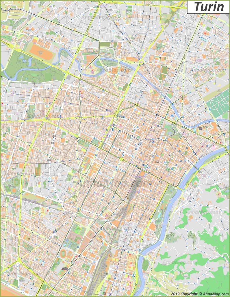 Detailed Tourist Maps Of Turin | Italy | Free Printable Maps Of - Free Printable Aerial Maps