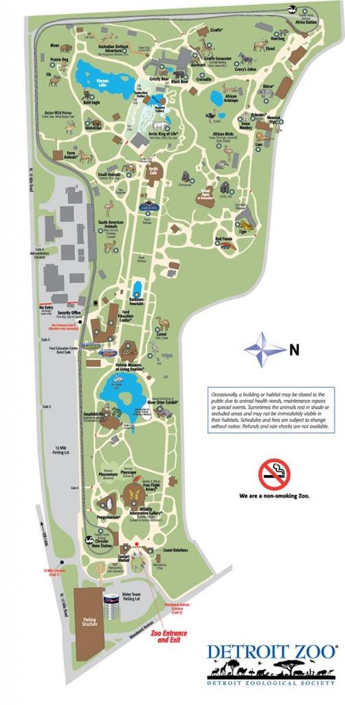 Detroit Zoo Map | Detroiter Not A Detracter. | Zoo Map, Detroit Zoo - Printable Detroit Zoo Map