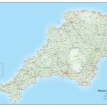 Devon And Cornwall County Map • Map Graphics   Printable Map Of Cornwall