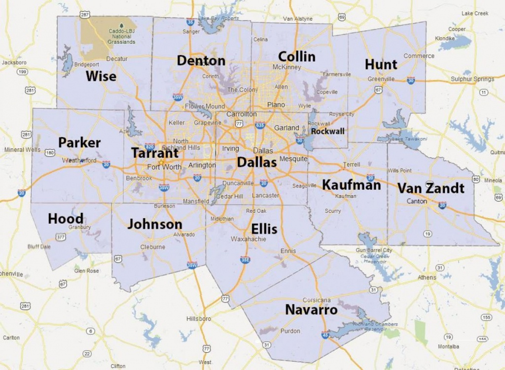 Dfw County Map - Fort Worth County Map (Texas - Usa) - Map Of Fort Worth Texas Area