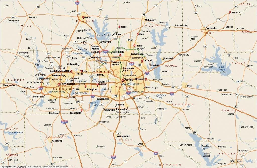Dfw Metroplex Map - Map Of Dfw Metroplex Area (Texas - Usa) - Printable Area Maps