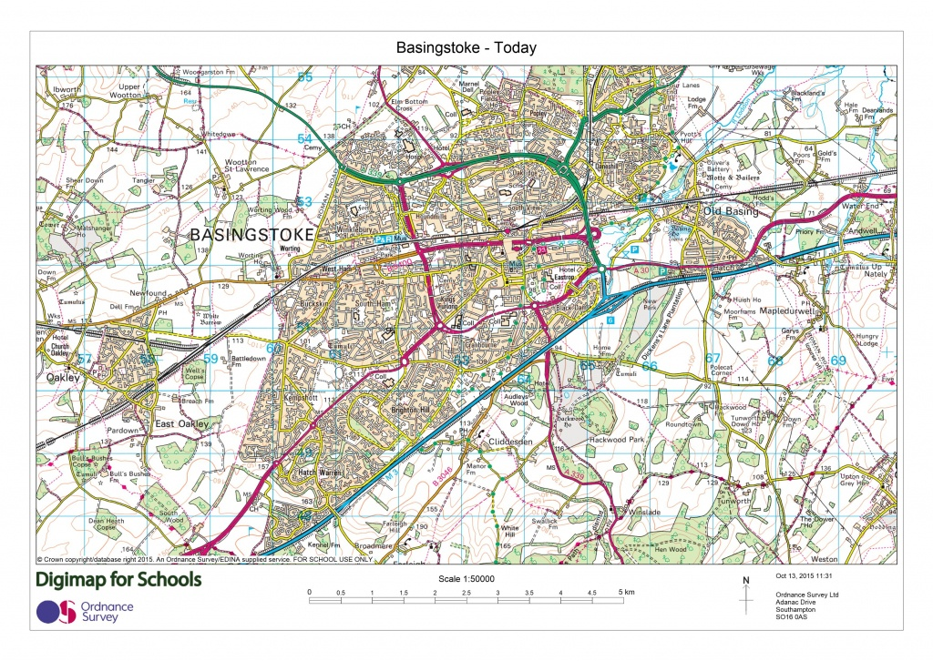 Digimap For Schools Launches 1950S Maps Of Great Britain | About - Printable Os Maps