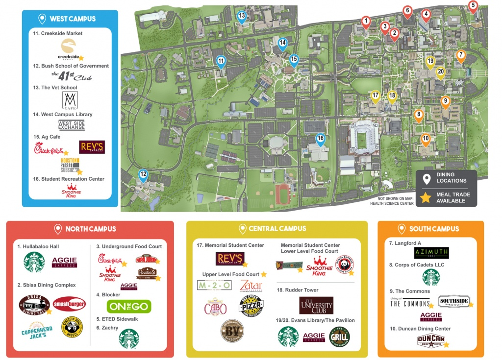 Dine On Campus At Texas A&m University - Texas A&m Housing Map