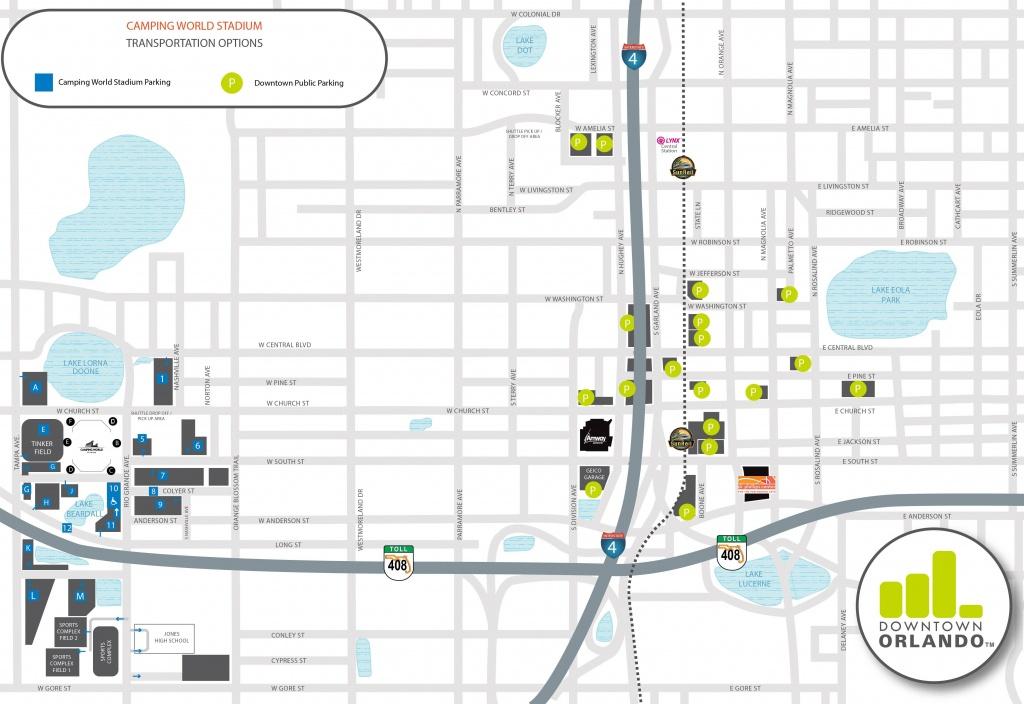 Directions & Parking   Camping World Stadium - Florida Map Directions