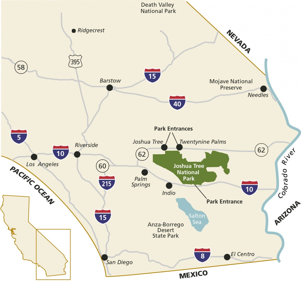 Directions & Transportation - Joshua Tree National Park (U.s. - Joshua Tree California Map