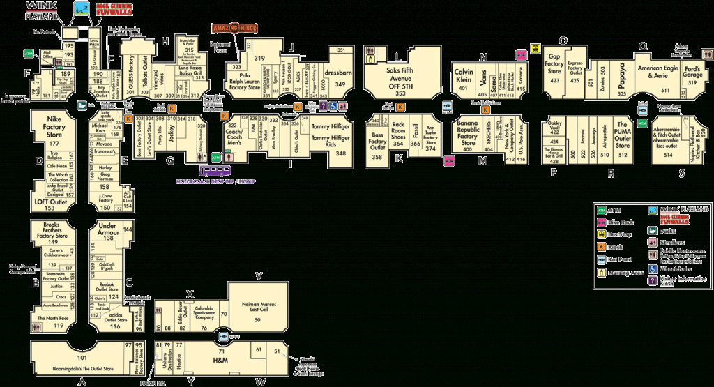 Directory A-Z | Miromar Outlets - Florida Outlet Malls Map