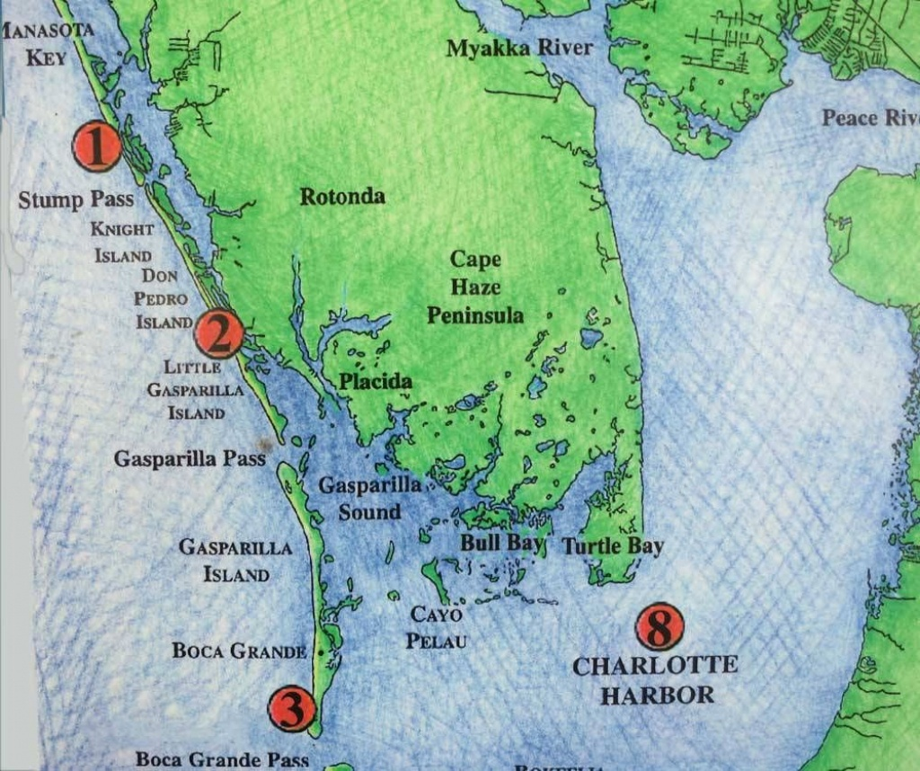 Discover A Less Well-Known String Of Islands -- Gasparilla Island - Manasota Key Florida Map