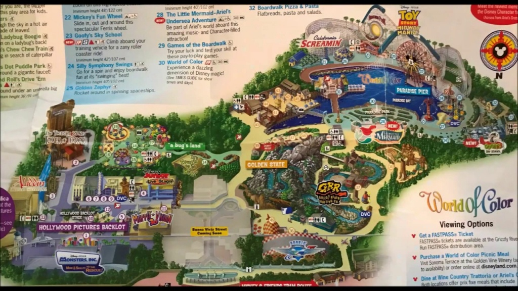 Disney California Adventure Maps Over The Years #2 See Video #3 Its - California Adventure Map