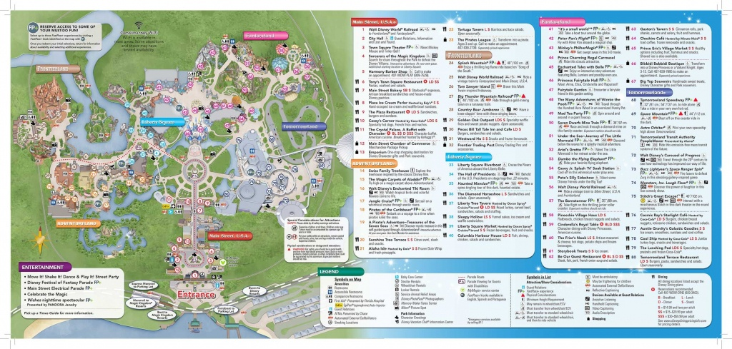 Disney-Magic-Kingdom-Map In 2019 | Virtual Magic Kingdom | Disney - Walt Disney World Printable Maps