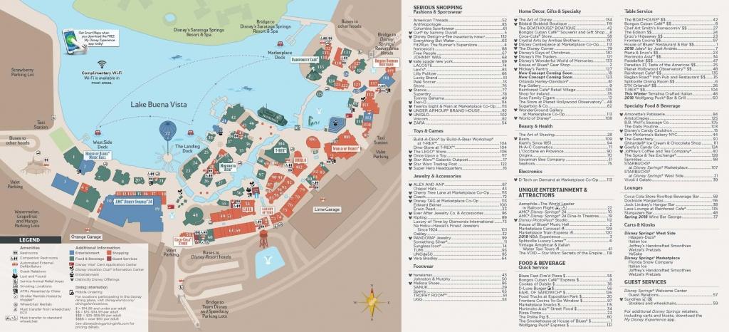 Disney Springs Map - Map Of Disney Springs (Florida - Usa) - Florida Springs Map