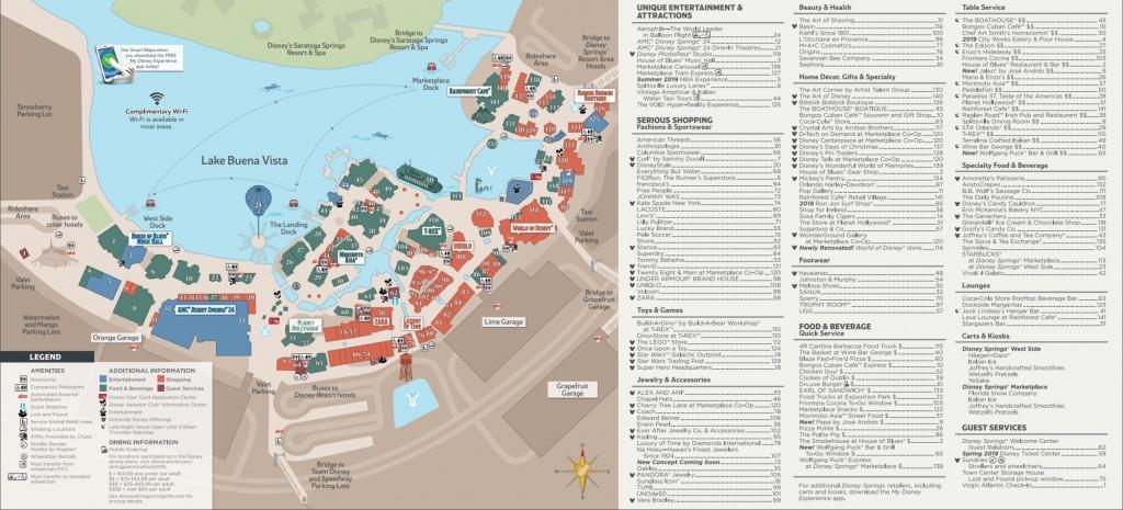 Disney Springs Map - Walt Disney World - Map Of Disney Springs Florida