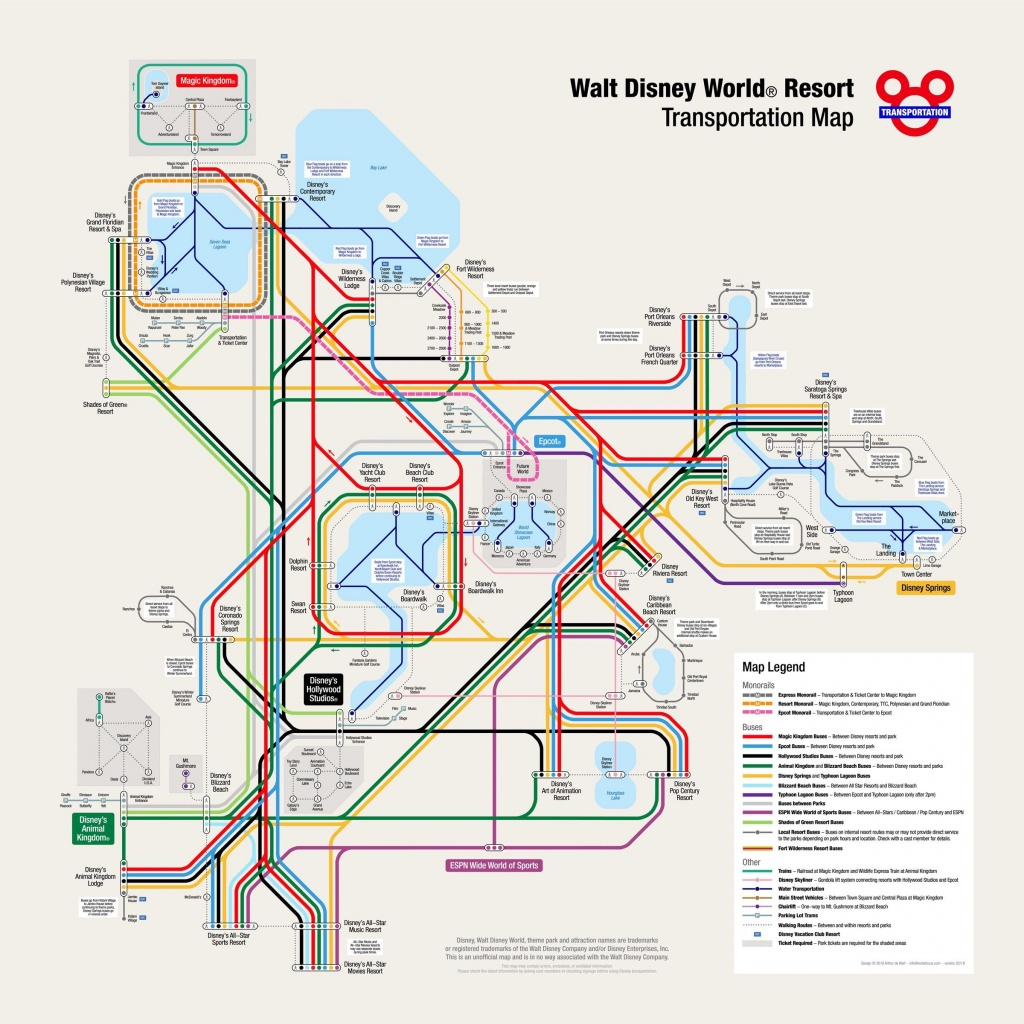 Disney Transportation Map! : Waltdisneyworld - Map Of Downtown Disney Orlando Florida