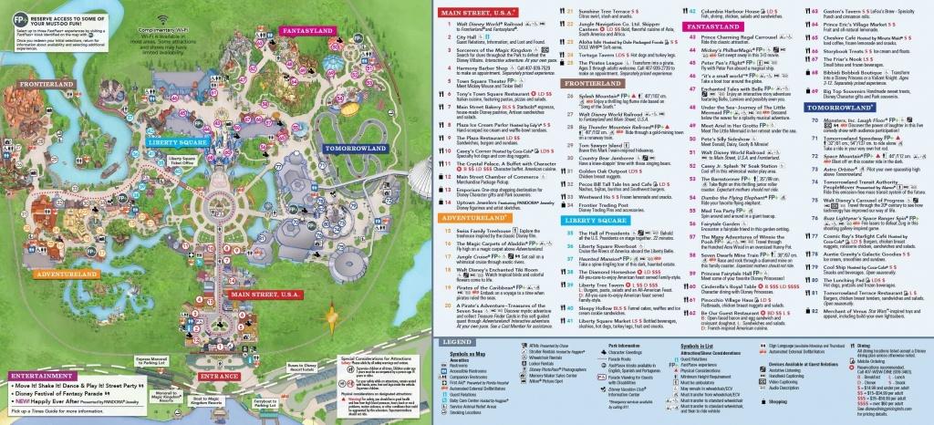 Disney World Magic Kingdom Map Printable - Design Templates - Printable Magic Kingdom Map