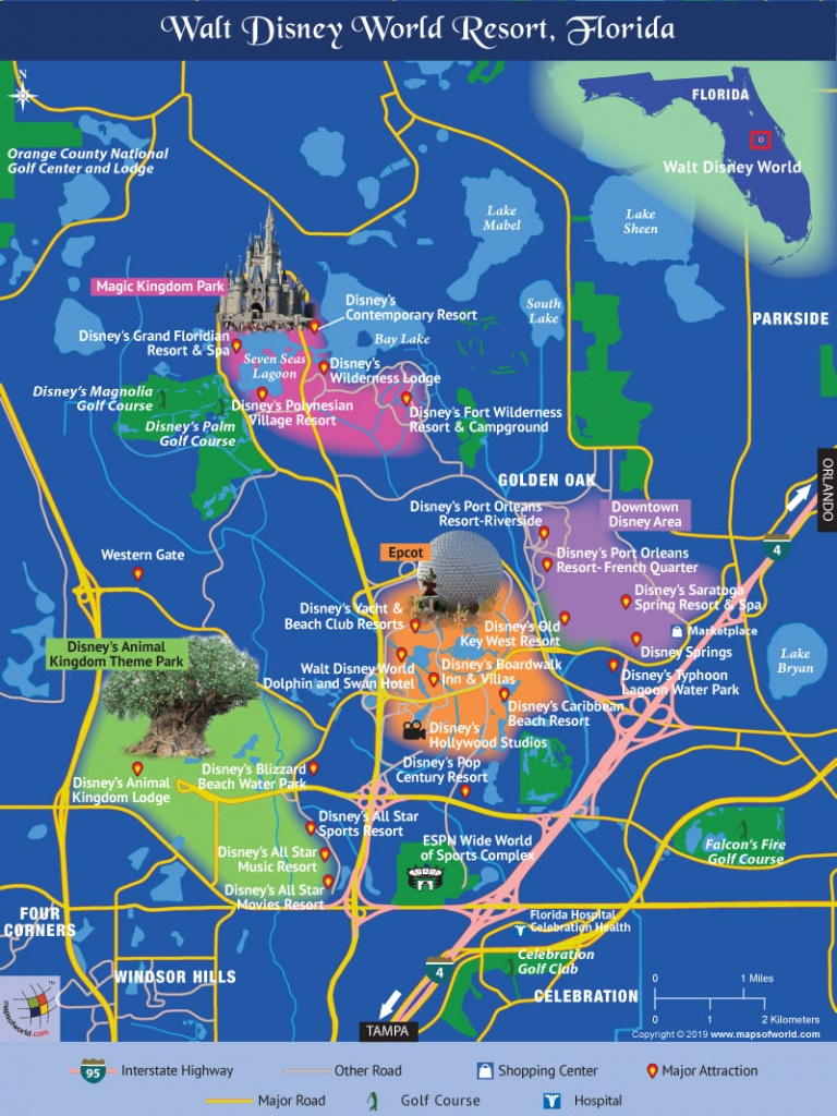 Disney World Map - Disney Resorts Florida Map