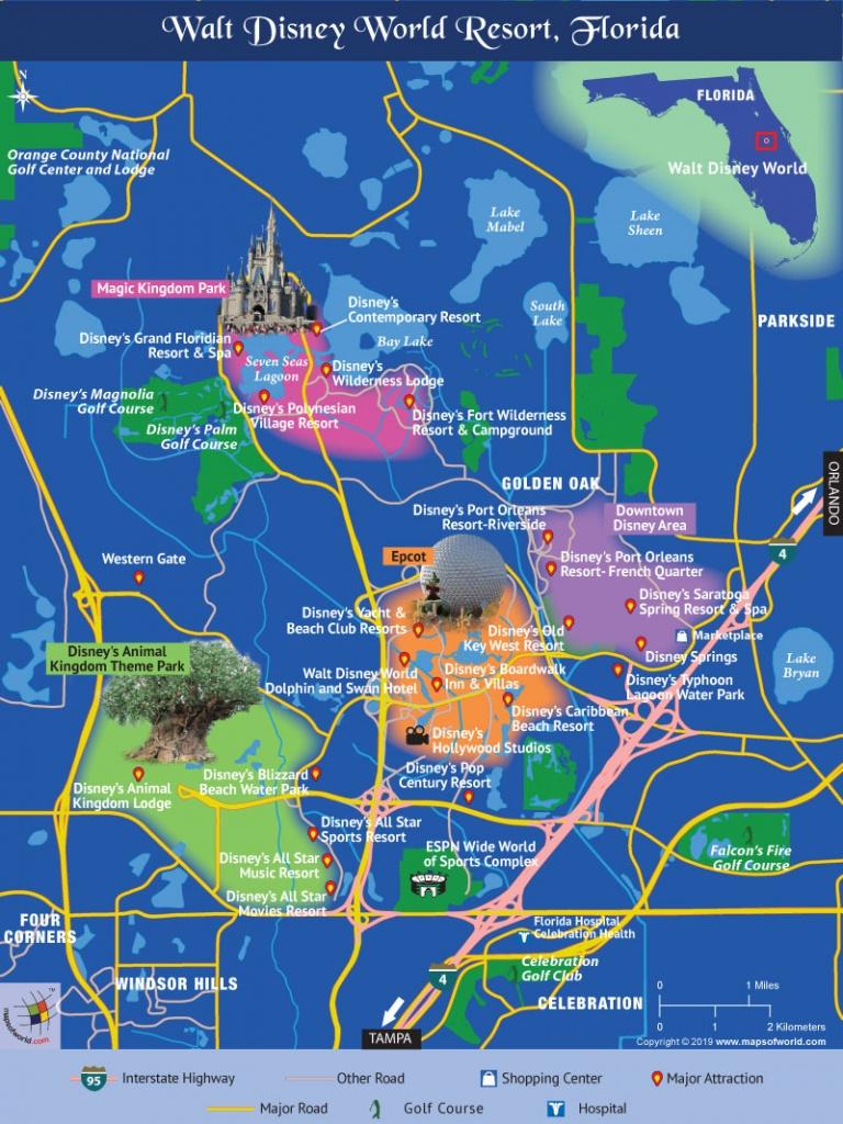 Disney World Map - Disney World Florida Hotel Map