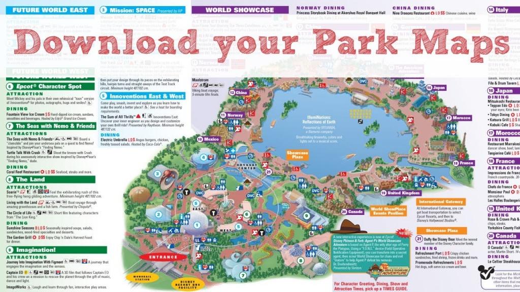 Disney World Maps - Youtube - Map Of Florida Showing Disney World