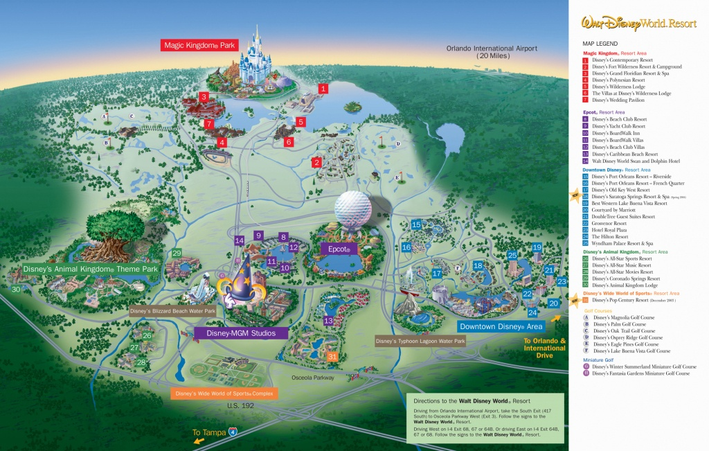 Disney World Resort Map - Orlando Florida • Mappery - Disney Orlando Florida Map