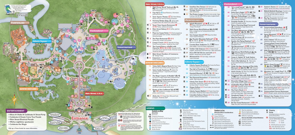 Disney World Theme Park Maps 2017 Disney Maps And Maps Of Disney - Walt Disney World Park Maps Printable