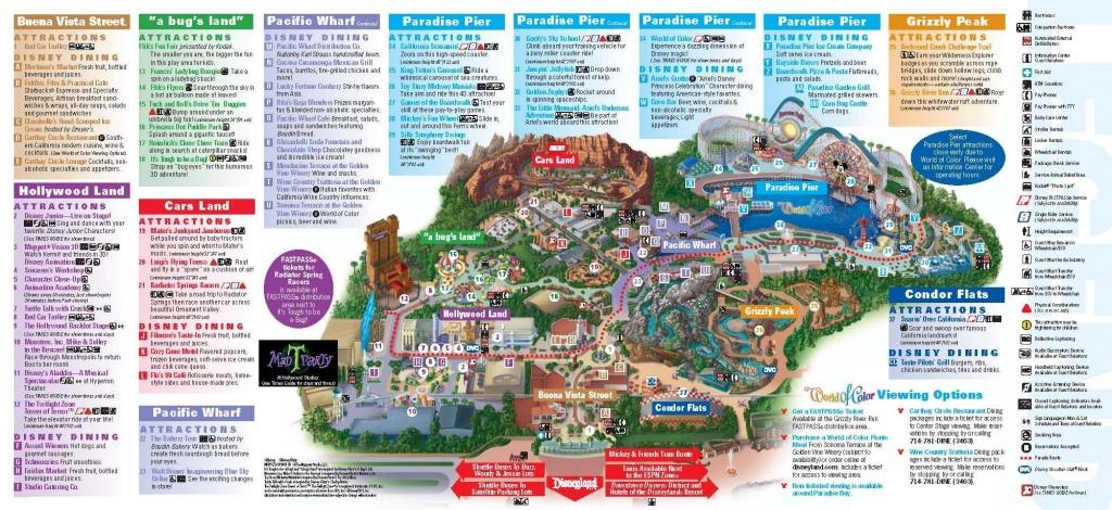 Disneyland California Adventure Park Map | Park Maps Disneyland Park - Disney California Map
