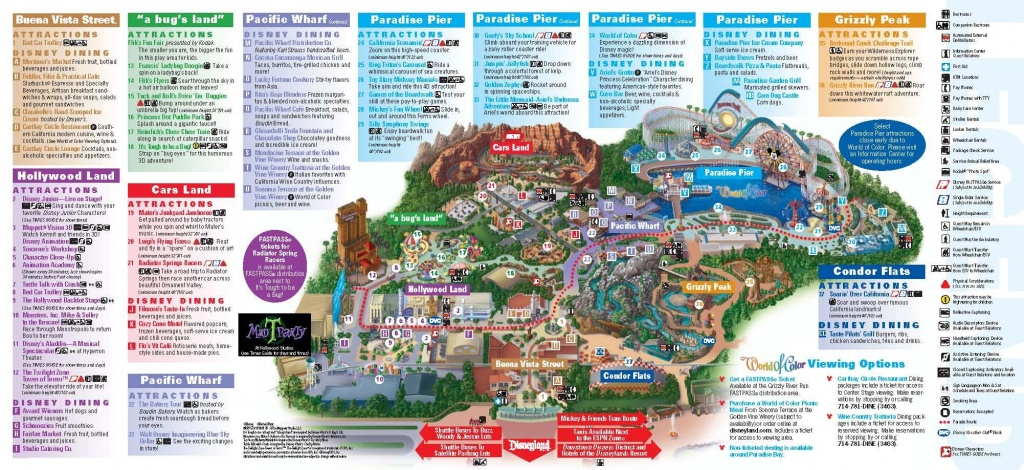 Disneyland California Adventure Park Map | Park Maps Disneyland Park - Disney World California Map