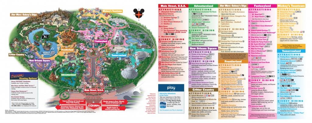 Disneyland Park Map In California, Map Of Disneyland - Disney California Map