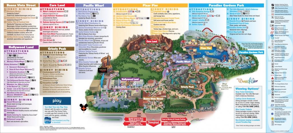 Disneyland Park Map In California, Map Of Disneyland - Printable Map Of Disneyland And California Adventure