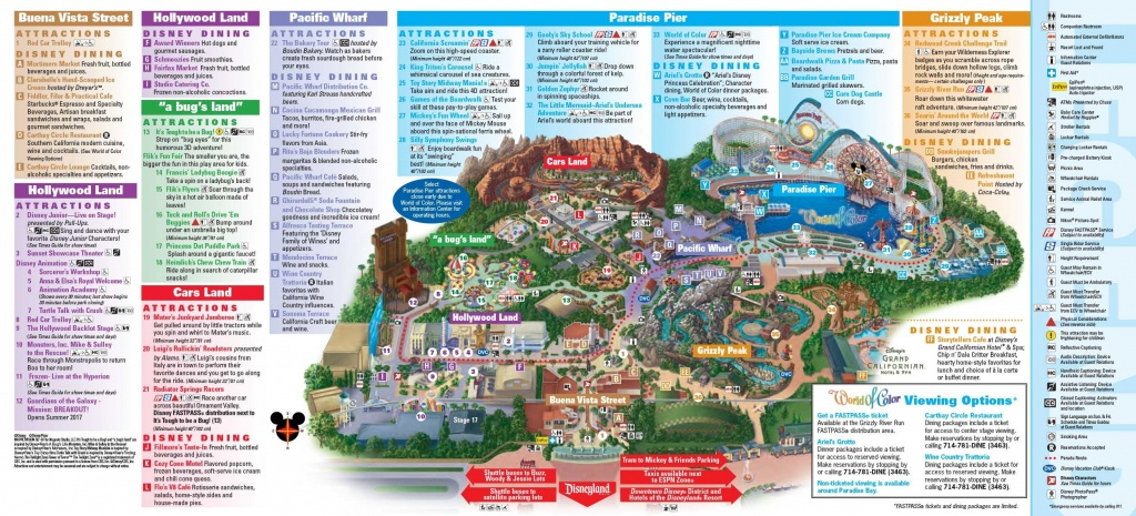 Disneyland Resort Maps Dcamaplarge | D1Softball - California Adventure Map 2017 Pdf