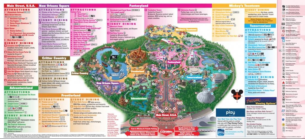 Disneyland Theme Parks, Disneyland Park California Adventure - Southern California Theme Parks Map