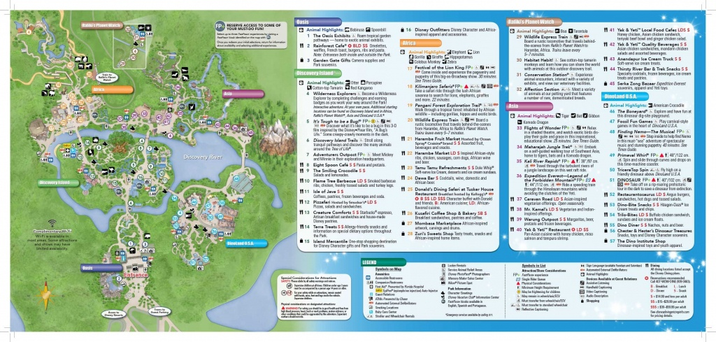 Disney's Animal Kingdom Map Theme Park Map | Disney | Disney World - Animal Kingdom Florida Map
