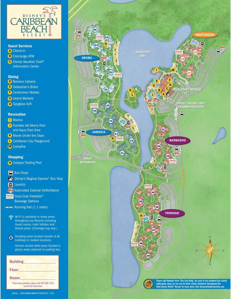 Disney's Caribbean Beach Resort Map   Florida In 2019   Caribbean - Map Of Florida Beach Resorts