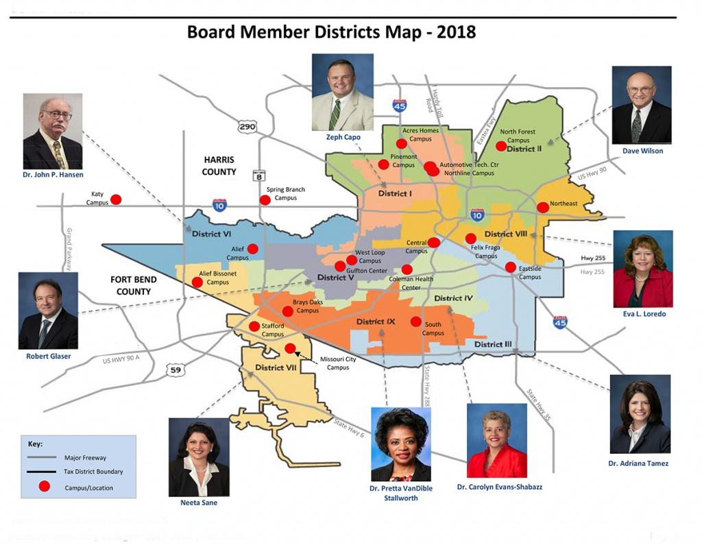 District Maps | Houston Community College - Hcc - Crystal Beach Texas Map