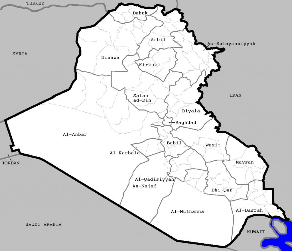 Districts Of Iraq - Wikipedia - Printable Map Of Iraq