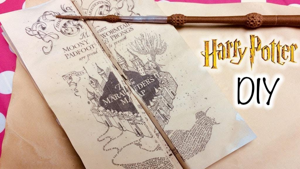 Diy Harry Potter Marauder's Map Printable And Parchment Easy Diy - Harry Potter Map Marauders Free Printable