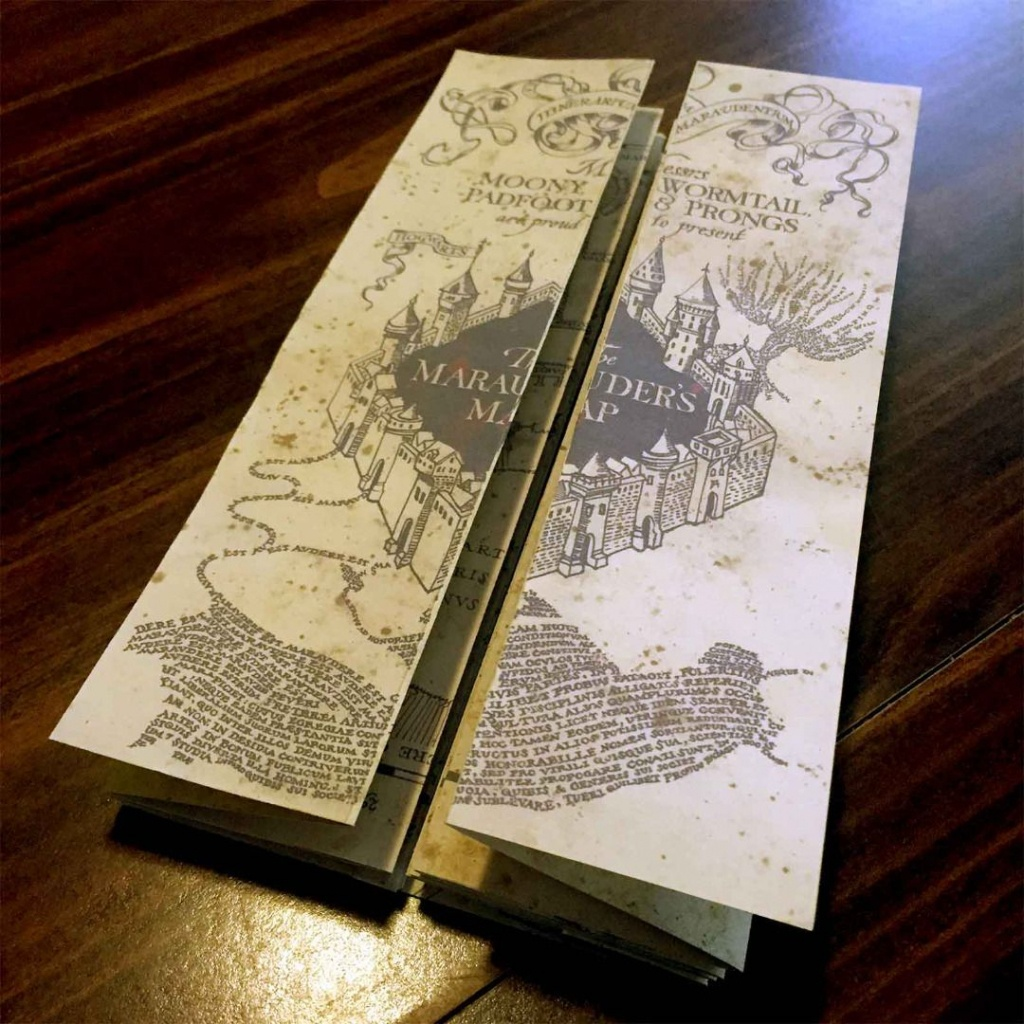 Diy Harry Potter Marauders Map Tutorial And Printable From - Marauder's Map Replica Printable
